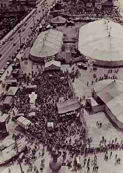 Clyde Beatty Circus aerial photograph