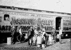 Barnum and Bailey billing crew