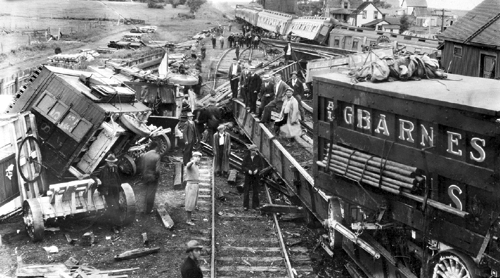 Circus train wrecks