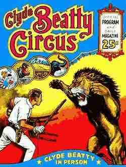 Clyde Beatty Circus Poster