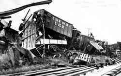 Cole Bros Circus Train Wreck