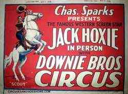 1936 Sparks Bros Circus Poster