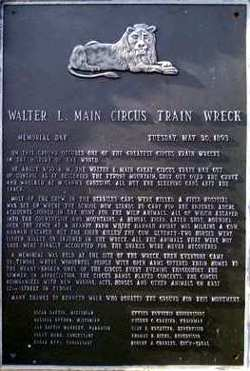 Walter L Main Circus Train Wreck